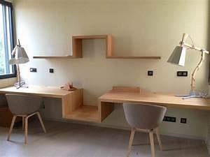 Bureau Contemporain Design : notre bureau suspendu s te maison contemporaine en bois on est dans la place par thao ~ Teatrodelosmanantiales.com Idées de Décoration