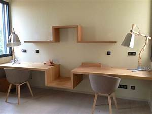 notre bureau suspendu s te maison contemporaine en With bureau de maison design