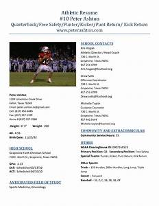best photos of high school athletic resume college With athletic resume template