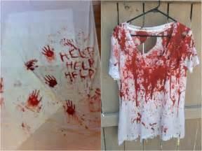 faux sang fait maison maquillage costume et déco