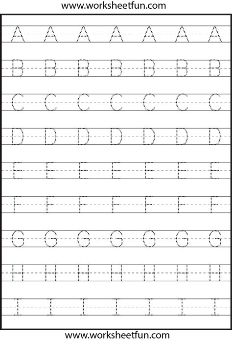 tracing uppercase letters capital letters