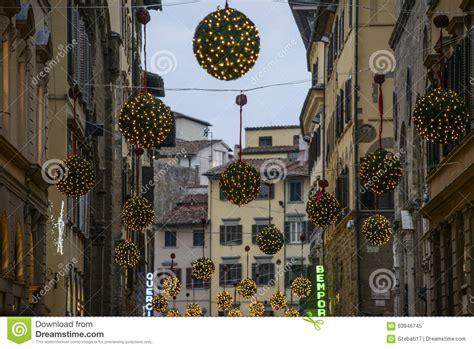 florence tuscany italy europe christmas decorations