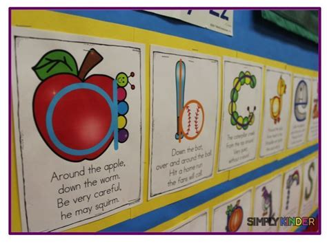 alphabet formation poems simply kinder  tpt teaching