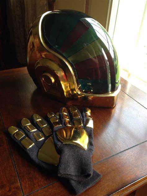 Daft Punk Guy Manuel Helmet with Gloves Chrome Finished ...