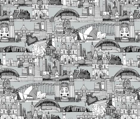 australia toile de jouy black white fabric scrummy