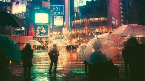 rainy night  tokyo  wallpapers