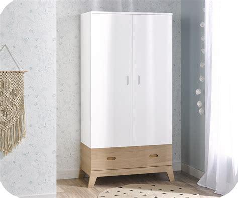 armoire enfant aloa blanche et bois