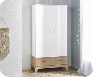 Armoire Bebe Blanche : armoire b b aloa blanche et bois ~ Melissatoandfro.com Idées de Décoration
