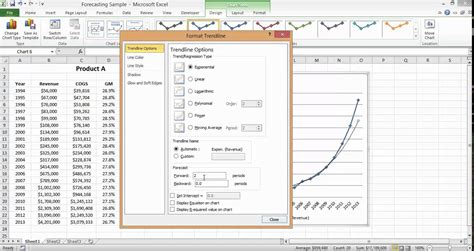 create base templates for multiple excel charts creating a revenue forecast youtube