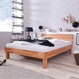 Bett 100 X 180 : holzbett massivholzbett doppelbett bett massiv 180 x 200 cm in kernbuche ge lt ebay ~ Bigdaddyawards.com Haus und Dekorationen