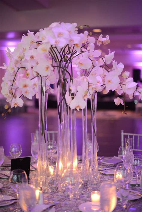 Best White Orchid Centerpieces Images Pinterest