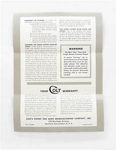 Colt Single Action Frontier Scout Revolver Instruction