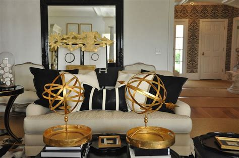 gold  black living room eclectic living room