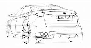 Car sketch rear 3/4 view by André – www lucianobove com