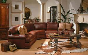 6 living room decor ideas with sectional home design hd for Brown leather sectional sofa decorating ideas
