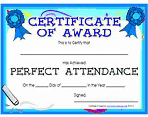 Perfect Attendance Certificate Template Search Results For Perfect Attendance Printable Certificate Calendar 2015