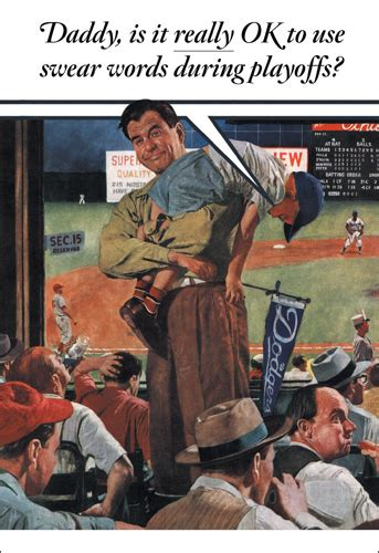 playoffs funny humorous norman rockwell fathers day