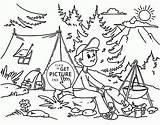 Coloring Summer Pages Camp Popular sketch template