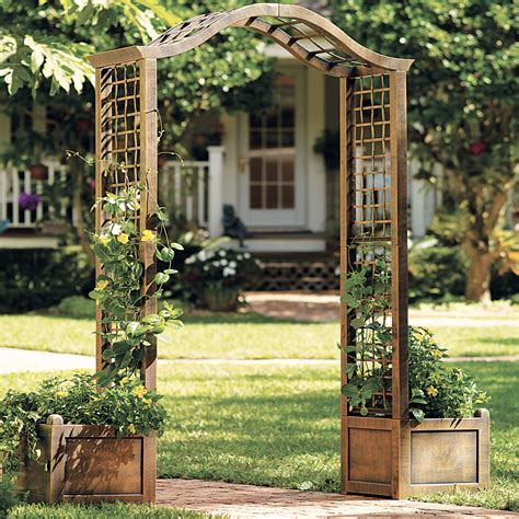 Resin Garden Arch Trellis  Outdoor Decor Brylanehome