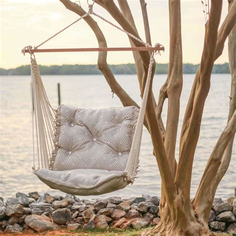 hammock chair swing integrated pewter tufted single porch swing hatteras