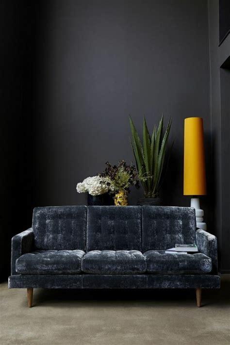 canapé bleu gris on met l 39 accent sur la couleur de peinture pour salon
