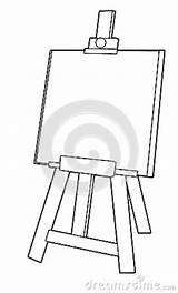 Easel Coloring Cartoon Template Children sketch template