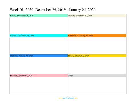 free weekly calendar template weekly calendar 2020 word excel pdf