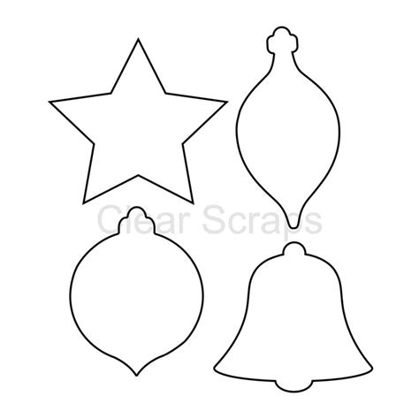 christmas ornaments coloring cut out clear scraps clear acrylic shapes ornaments