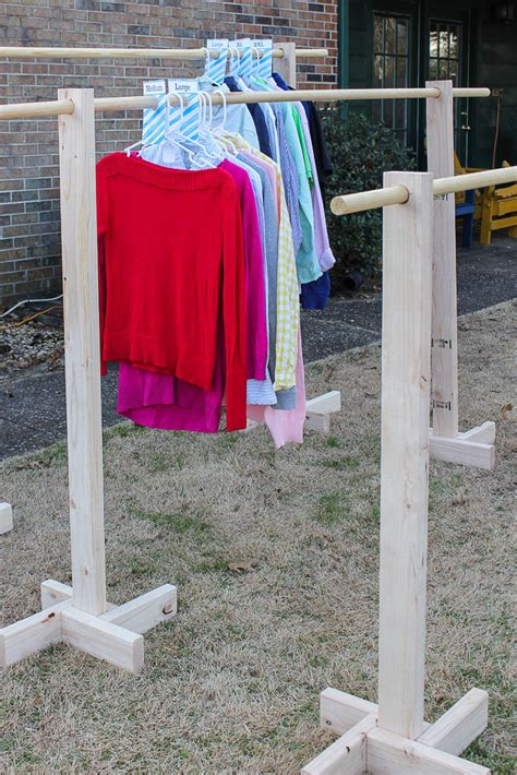 diy clothing rack diy clothes rack and free printable size dividers for yard