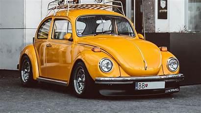 Beetle Volkswagen Yellow 1080p Retro 4k Uhd