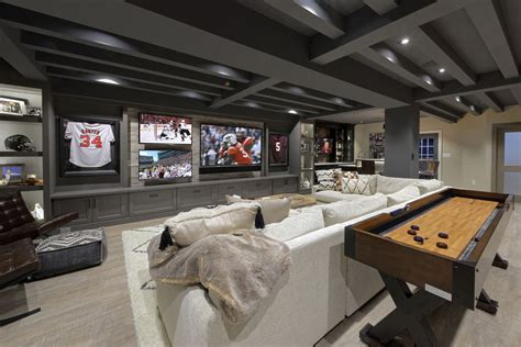 sports fans dream finished basement  entertaining