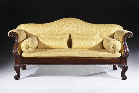 Rococo Settee by William Iv Mahogany Settee In The Rococo Style Made By