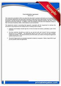 Contract Termination Letter Free Printable Nonsolicitation Agreement Form Generic