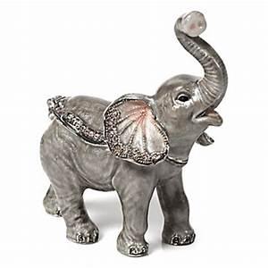 Baby Elephant Trinket Box Jewelry Boxes & Holders