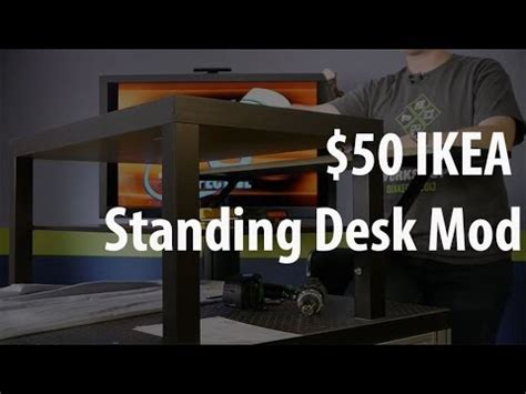 Sit Stand Desk Ikea by The 50 Ikea Standing Desk Mod Youtube
