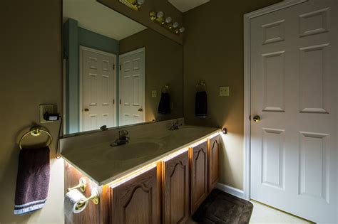 led bathroom vanity under counter lighting traditional