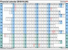 Financial calendars 201819 UK in Microsoft Excel format