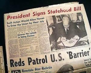 Eisenhower signs Hawaii statehood bill... - RareNewspapers.com