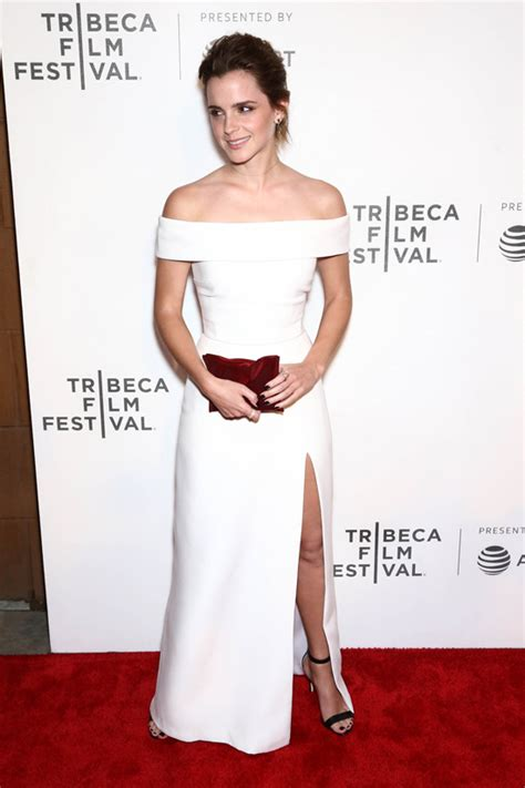 Emma Watson Kicks Off the White Dress Trend at the Tribeca Premiere of u0026quot;The Circleu0026quot;   Tom + Lorenzo