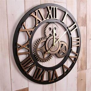 Grande Horloge Murale Originale : la grande horloge murale en photos ~ Teatrodelosmanantiales.com Idées de Décoration