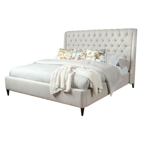 tufted bed kara regency button tufted fawn linen bed