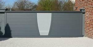 Porte De Garage 5m : portail alu 5 m coulissant portail alu contemporain ~ Dailycaller-alerts.com Idées de Décoration