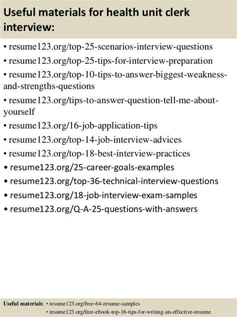 Health Unit Clerk Resume by Top 8 Health Unit Clerk Resume Sles