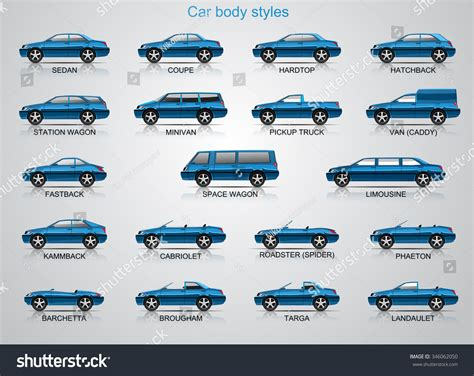 Car Body Styles. Stock Vector 346062050