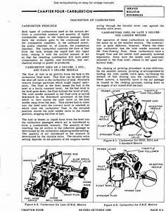 Outboard Motor Carburetor Manuals Sea King Chryslr Omc