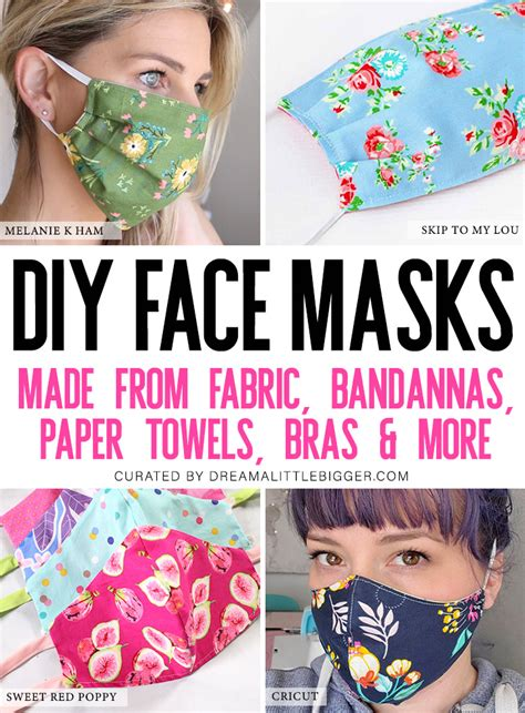 diy face masks   skill levels dream   bigger