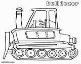 Bulldozer Coloring Printable Construction Sheet Caterpillar sketch template