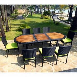 Salon En Resine : meuble en teck de jardin salon de jardin teck et r sine tress e fauteuils de jardin ~ Teatrodelosmanantiales.com Idées de Décoration