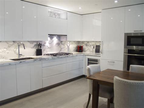 custom kitchen design white high gloss handle