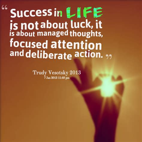 Quotes About Success And Luck Quotesgram